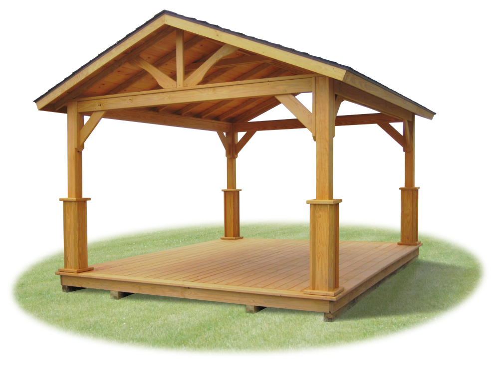 Wood And Vinyl Pavilions Pine Creek Structures