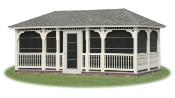 open vinyl rectangle gazebo from Pine Creek Structures