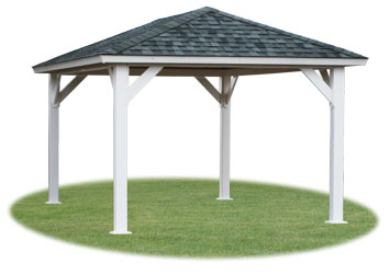 Wood and vinyl pavilions pine creek structures for Pavilion cost per square foot