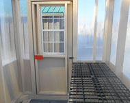 interior of 6x8 small prefabricated greenhouse from pine creek structures