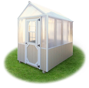 6x8 small ready made backyard greenhouse from pine creek structures