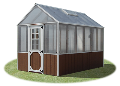 8x12 large prefabricated greenhouse from pine creek structures