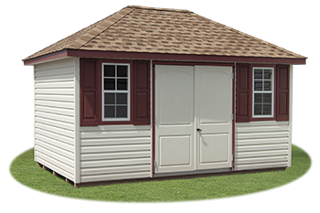 10x14 Vinyl Sided Hip Style Storage Shed From Pine Creek Structures