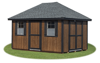 10x14 LP Sided Hip Style Storage Shed From Pine Creek Structures