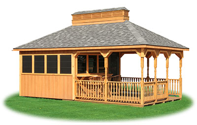 12x24 Vinyl Sided Hip Style Storage Shed From Pine Creek Structures