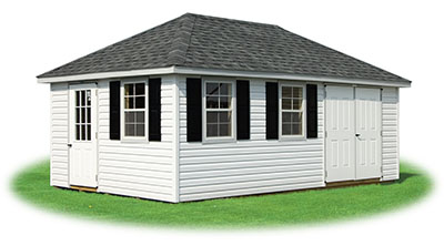 12x20 Vinyl Sided Hip Style Storage Shed From Pine Creek Structures
