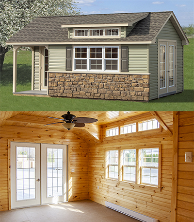 Custom Cape Cod Style Home Office buildings with porch, cape dormer, finished interior, and other upgrades
