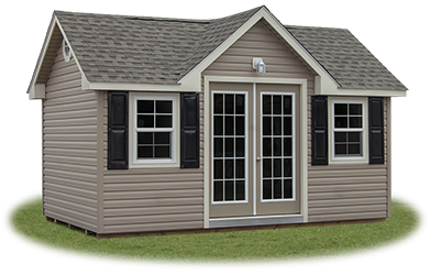 Custom Vinyl Victorian Style Home Office Building built by Pine Creek Structures