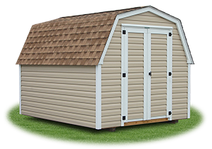economy madison mini barn with vinyl siding