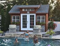 Customized Pool Shed Building From Pine Creek Structures