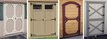 Pine Creek Structures Wood Door Options