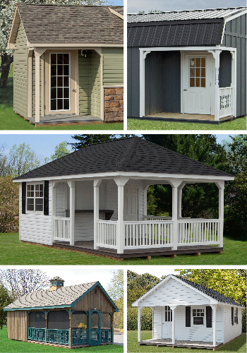Pine Creek Structures Options: Porches, Railing, and Decking