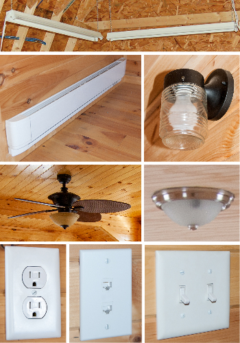 Pine Creek Structures Lighting and Electrical Options