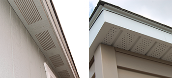 Pine Creek Structures venting options: eave side vents