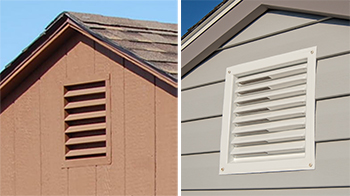 Pine Creek Structures venting options: gable end vents
