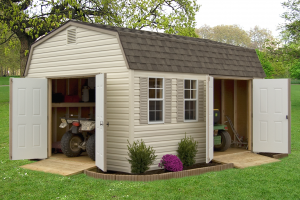 Storage Shed with extra double doors and ramps