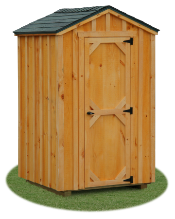 4x4 Board 'N' Batten Outhouse Tool Shed