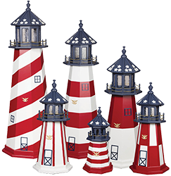 Pine Creek Structures Outdoor Decor - Patriotic Lighthouse Designs