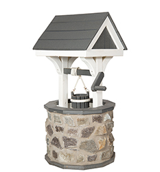 Pine Creek Structures Outdoor Decor - Stone Wishing Wells