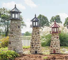 Pine Creek Structures Outdoor Decor - Stone Lighthouses