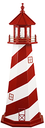 Pine Creek Structures Outdoor Decor - White Soal, MI Lighthouse Design