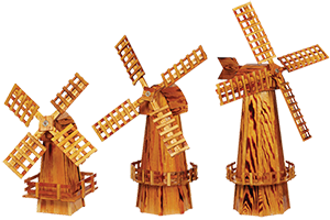 Pine Creek Structures Outdoor Decor - Wooden Windmills