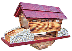 Pine Creek Structures Outdoor Decor - Covered Bridge Bird Feeder
