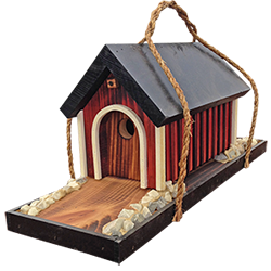 Pine Creek Structures Outdoor Decor - Covered Bridge Birdhouse