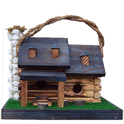 Pine Creek Structures Outdoor Decor - Double Log Cabin Birdhouse