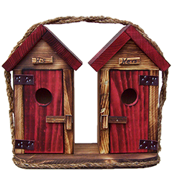 Pine Creek Structures Outdoor Decor - Large Outhouse Birdhouse
