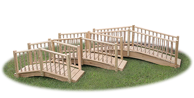Pine Creek Structures Outdoor Decor - Wooden Bridges