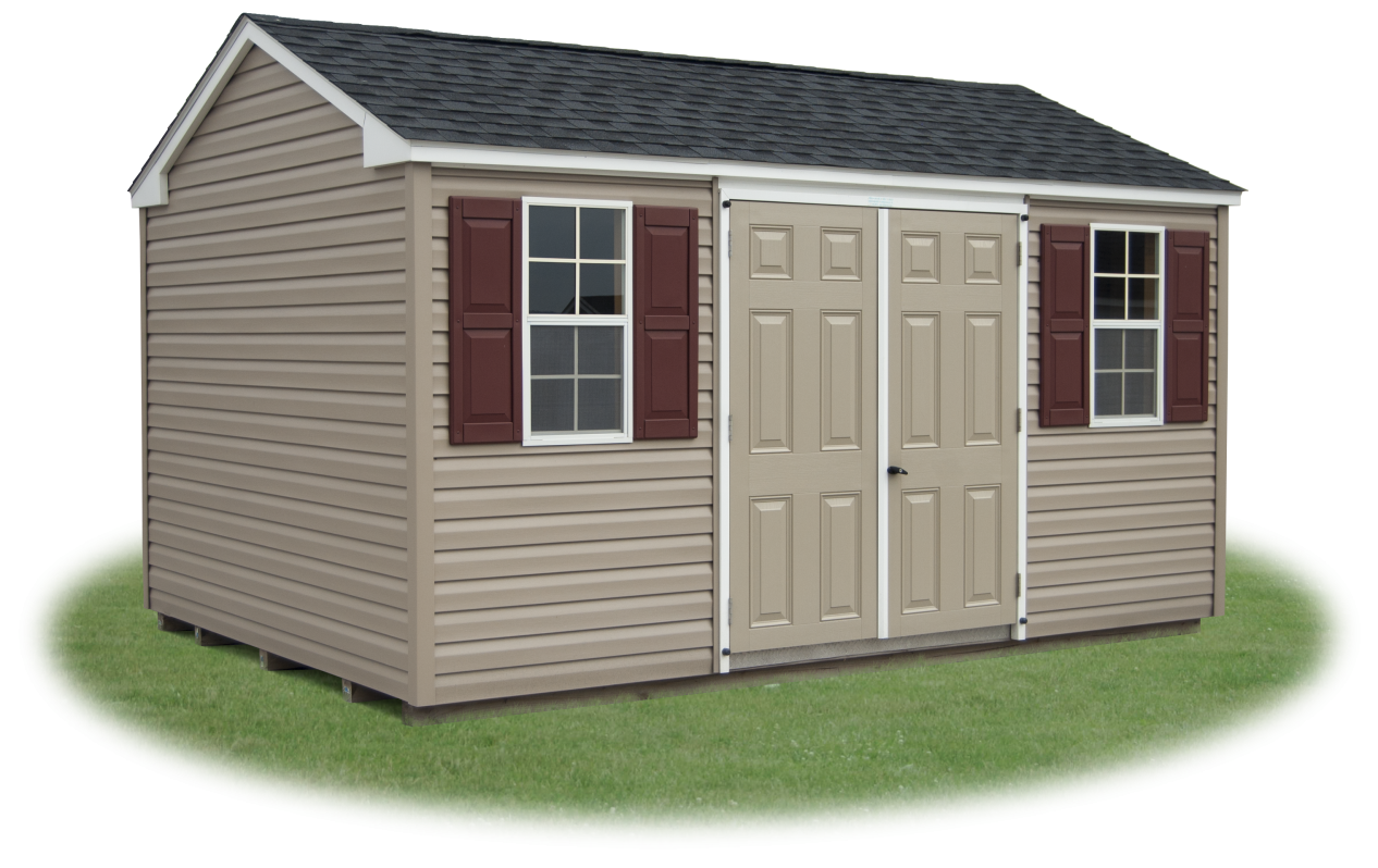 side entry vinyl siding peak shed