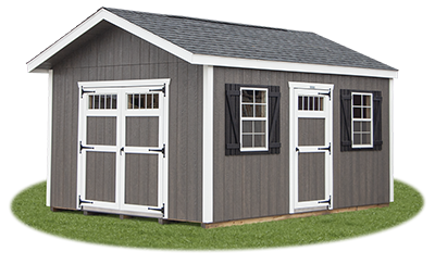 12x16 New England Front Entry Peak Storage Shed available at Pine Creek Structures