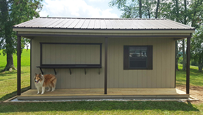 Custom Bar Shed available at Pine Creek Structures