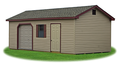 Customize Peak Storage Shed available at Pine Creek Structures