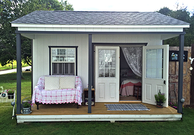 Custom She Shed built by at Pine Creek Structures