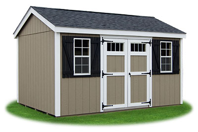 10x14 LP Sided Side Entry Peak Storage Shed available at Pine Creek Structures