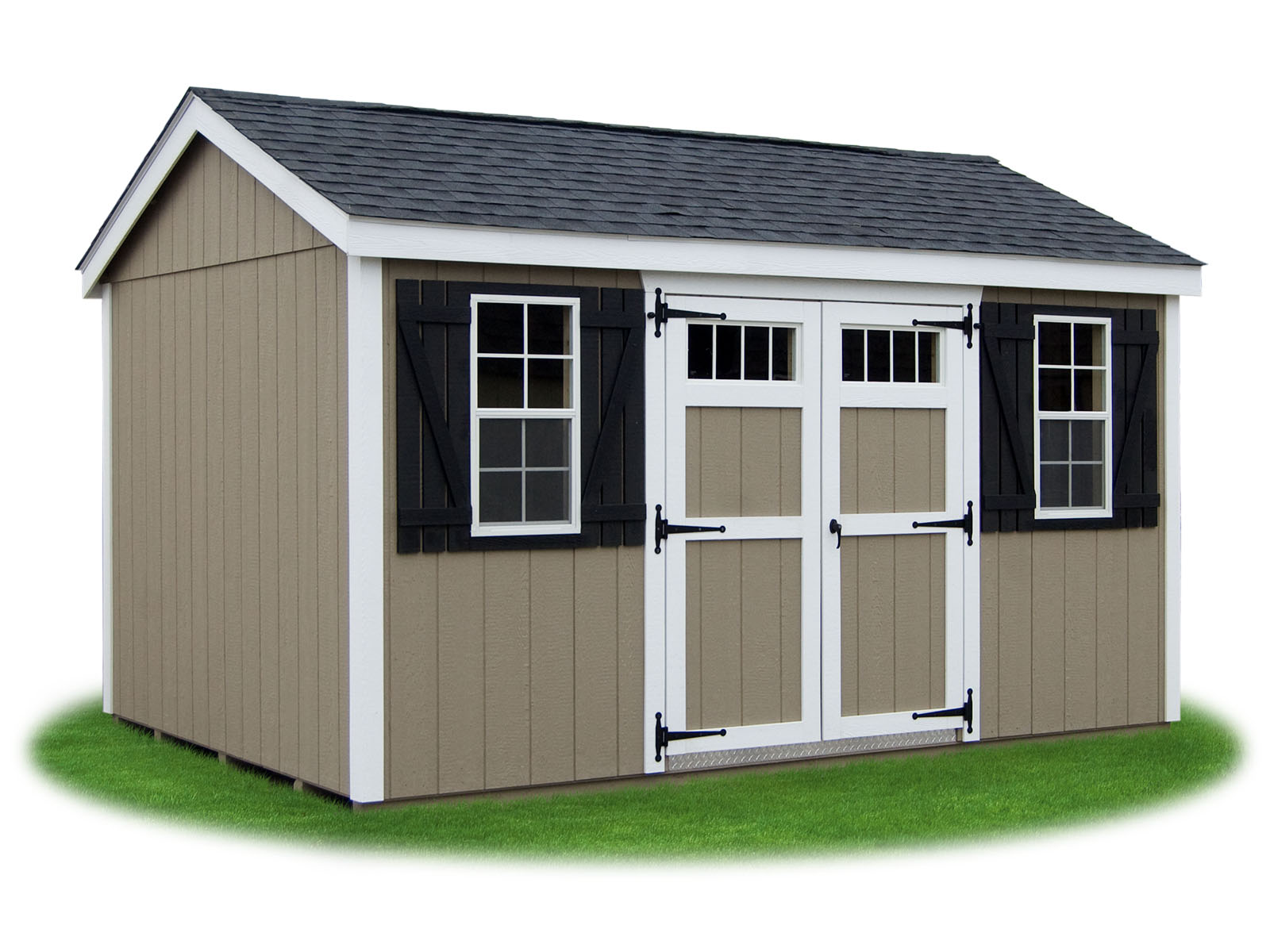 Peak 39 a 39 frame style sheds pine creek structures for Side storage shed