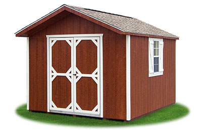 10x12 LP Sided Front Entry Peak Storage Shed available at Pine Creek Structures
