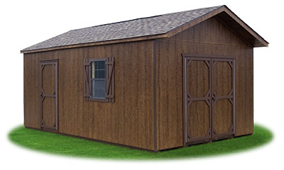 12x20 LP Sided Front Entry Peak Storage Shed available at Pine Creek Structures