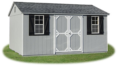 10x16 LP Sided Side Entry Peak Storage Shed available at Pine Creek Structures