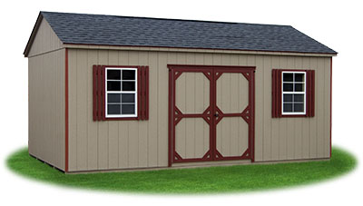 12x20 LP Sided Side Entry Peak Storage Shed available at Pine Creek Structures