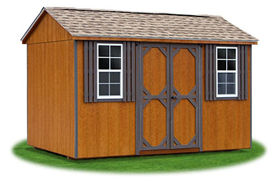 8x12 LP Sided Side Entry Peak Storage Shed Available At Pine Creek  Structures