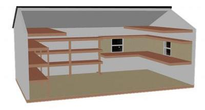 Peak Space Saver/Workshop Combo shelving package (Interior Diagram)