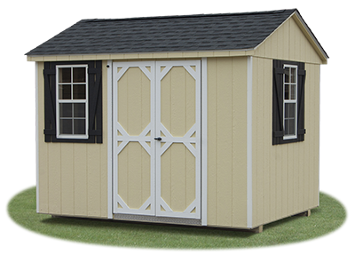 8x10 LP Sided Side Entry Peak Storage Shed available at Pine Creek Structures