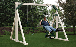 The Economy Vinyl Swing Set