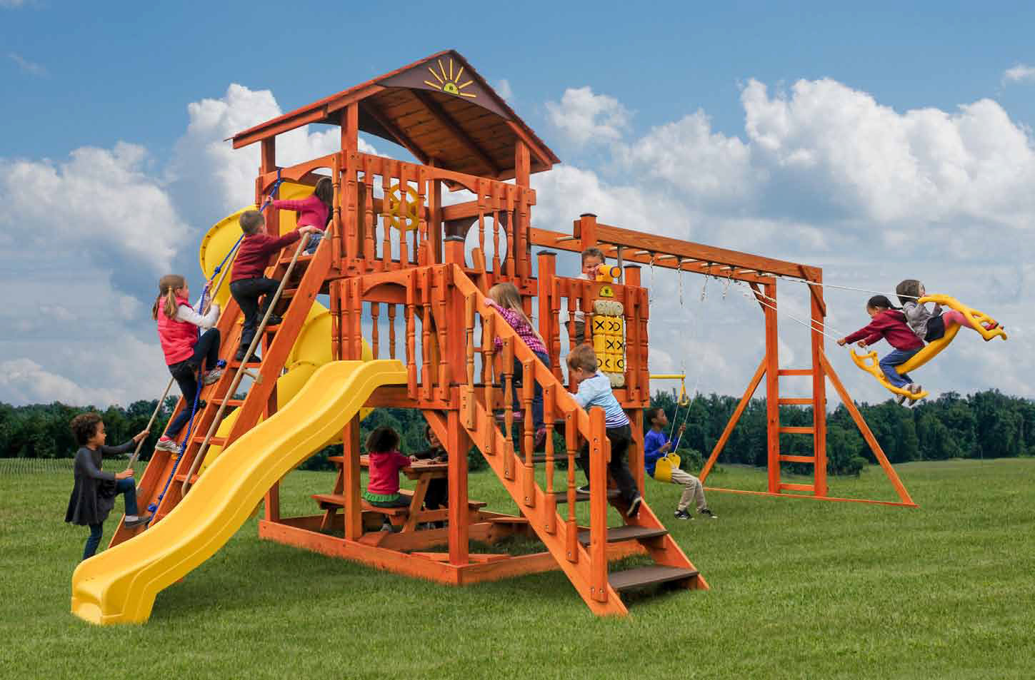Handcrafted Swing Sets & Playsets   Pine Creek Structures