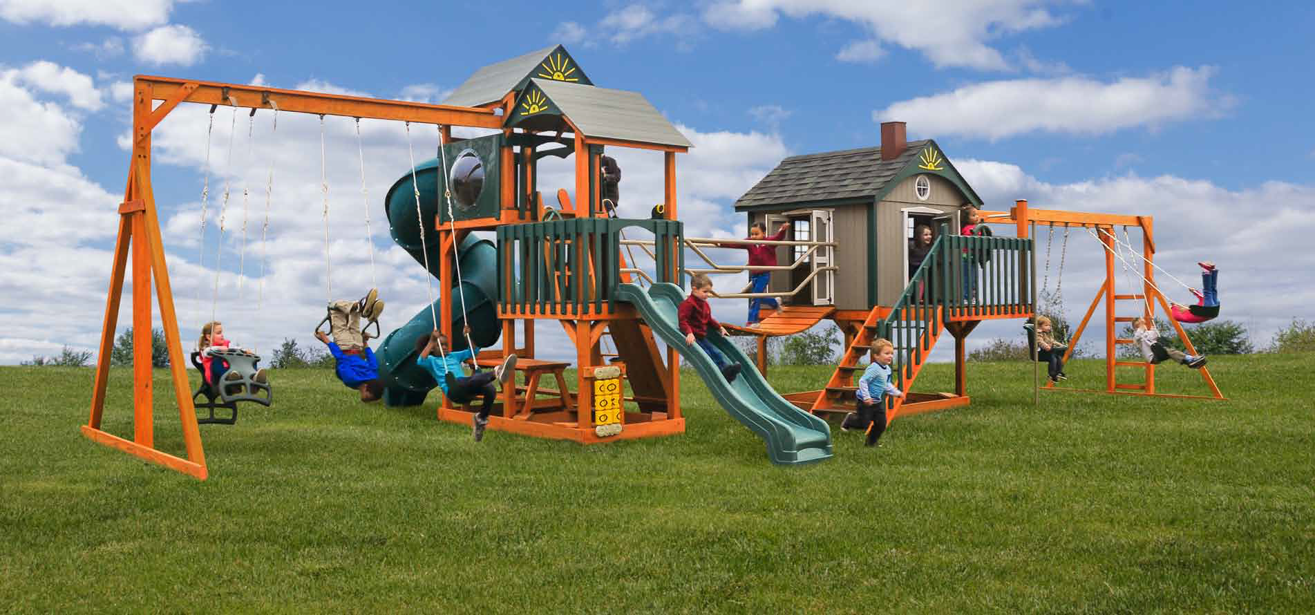 Handcrafted Swing Sets Amp Playsets Pine Creek Structures