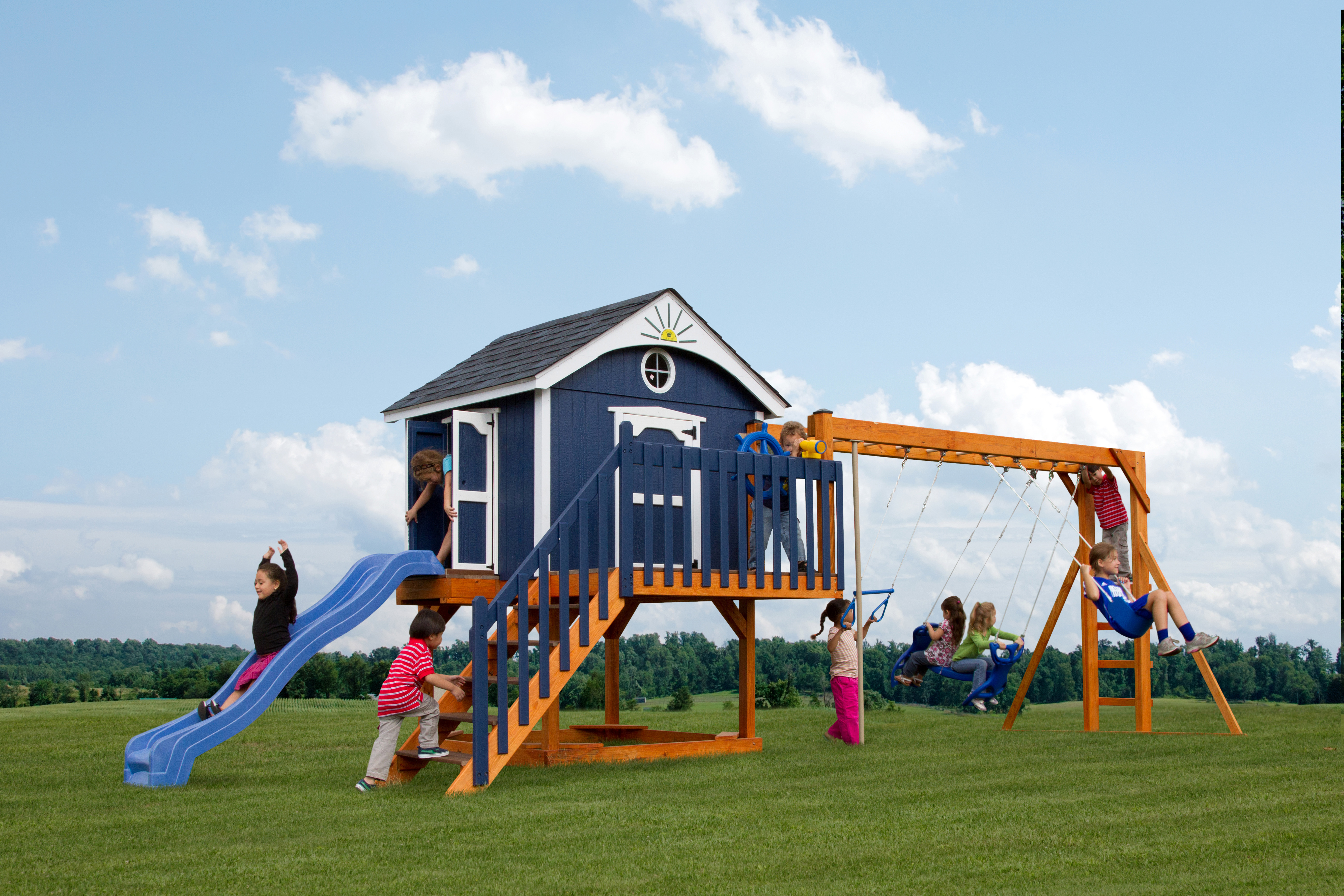 Handcrafted Swing Sets & Playsets