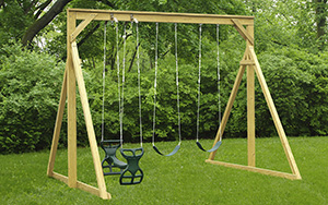 The Economy Wood Swing Set